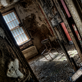 Time Out by Dawn Robinson - Buildings & Architecture Decaying & Abandoned ( #abandoned #chair #asylum urban exploration #urban exploring #beauty in decay #forgotten,  )