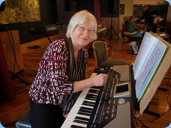 Mary Barrett played the Korg Pa800 - nice arrangements. Photo courtesy of Dennis Lyons