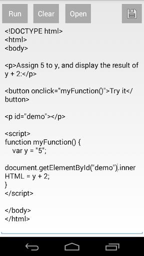 Run HTML