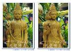 【藥師佛護法】一尺六台灣牛樟木手工雕刻日月菩薩@九龍佛具