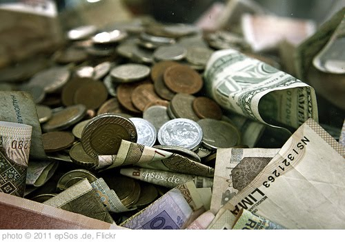 'International Money Pile in Cash and Coins' photo (c) 2011, epSos .de - license: http://creativecommons.org/licenses/by/2.0/