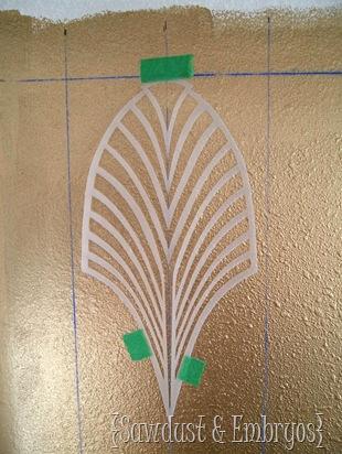 Stenciling using a Grid {Sawdust and Embryos}