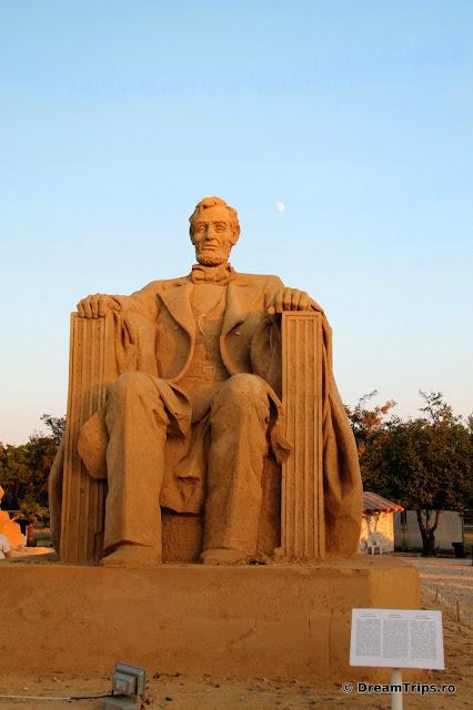 sculpturi nisip Burgas Abraham Lincoln.JPG