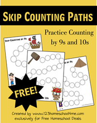 FREE Skip Counting Worksheets for Elementary Math