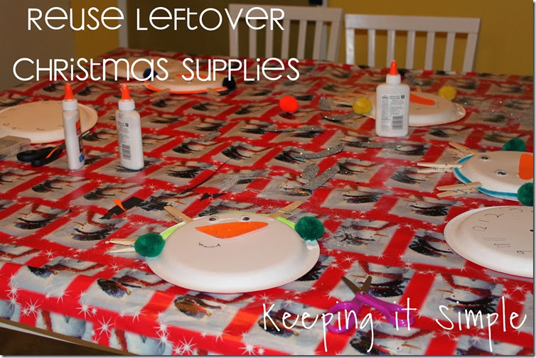 reuse Christmas supplies