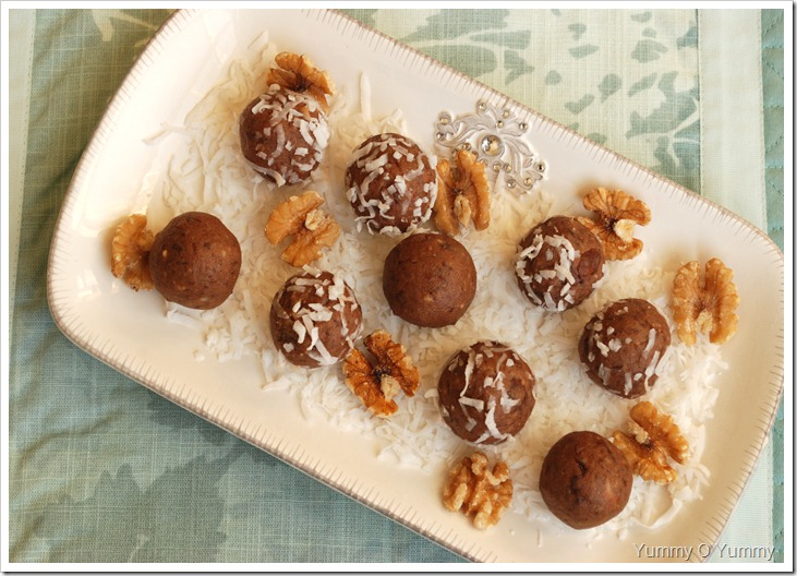 Walnuts, Dates and Nutella Balls