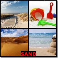 SAND- 4 Pics 1 Word Answers 3 Letters