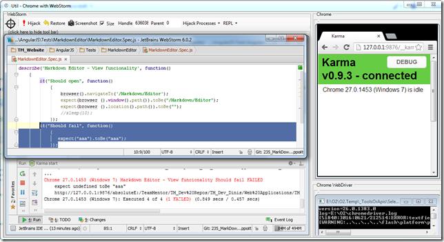 Dinis Cruz Blog: Using WebStorm with Chrome and ChromeDriver