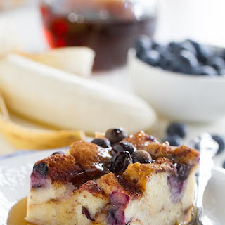 Blueberry Banana French Toast Bake