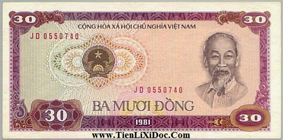 30 Đồng Việt Nam 1981