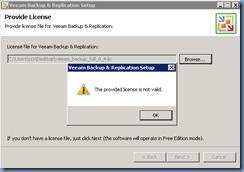 Terence Luk: Installing Veeam license onto Veeam Backup and