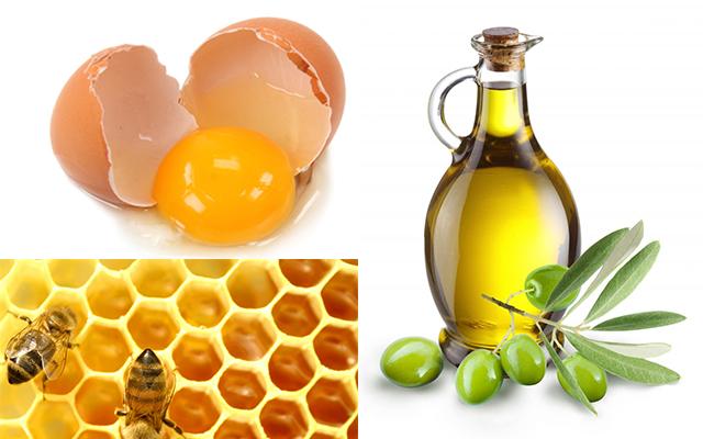 Đắp mặt nạ mật ong với lòng trắng trứng gà và dầu oliu