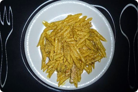 Penne Curry e pesce spada