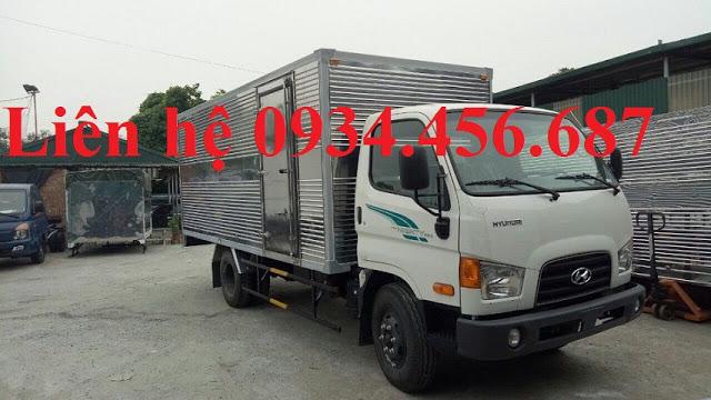 New Mighty 110s Hyundai 7 tấn thùng kín