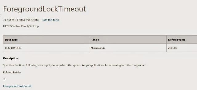 【數位3C】修改登錄檔ForegroundLockTimeout,解決前景視窗焦點一直被不時切換的問題 3C/資訊/通訊/網路 系統優化 軟體應用 靈異現象&疑難雜症