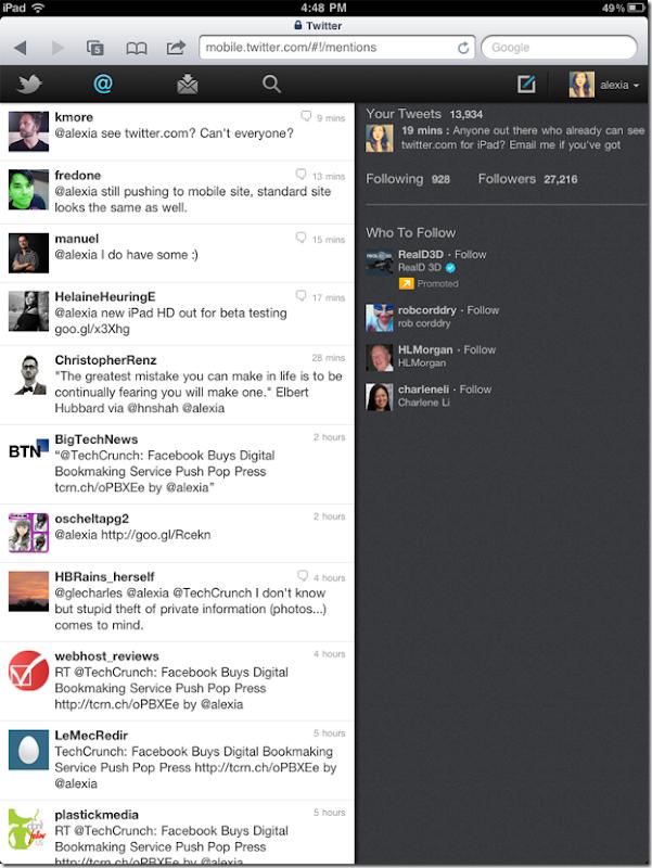 html5 twitter