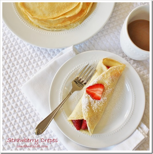 Strawberry Crepes by Sand & Sisal