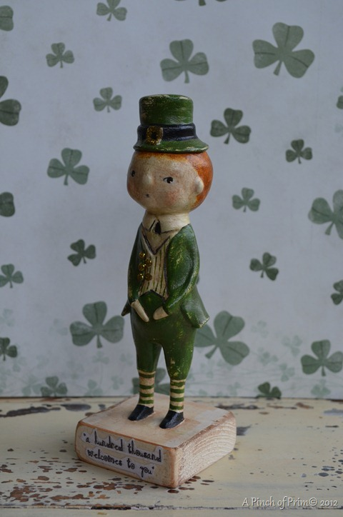 St. Patrick's Day figurine hand crafted