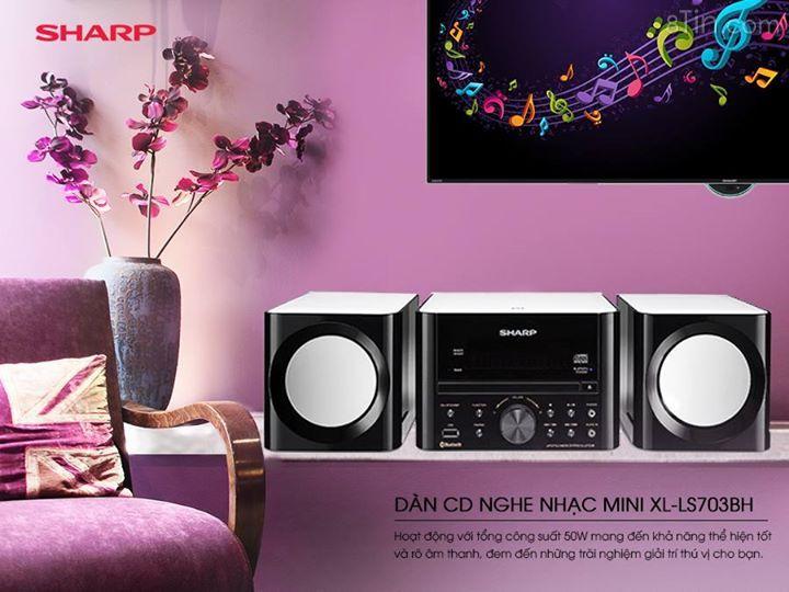 Dàn CD nghe nhạc Sharp XLLS703BH có thiết kế bắt mắt cùng