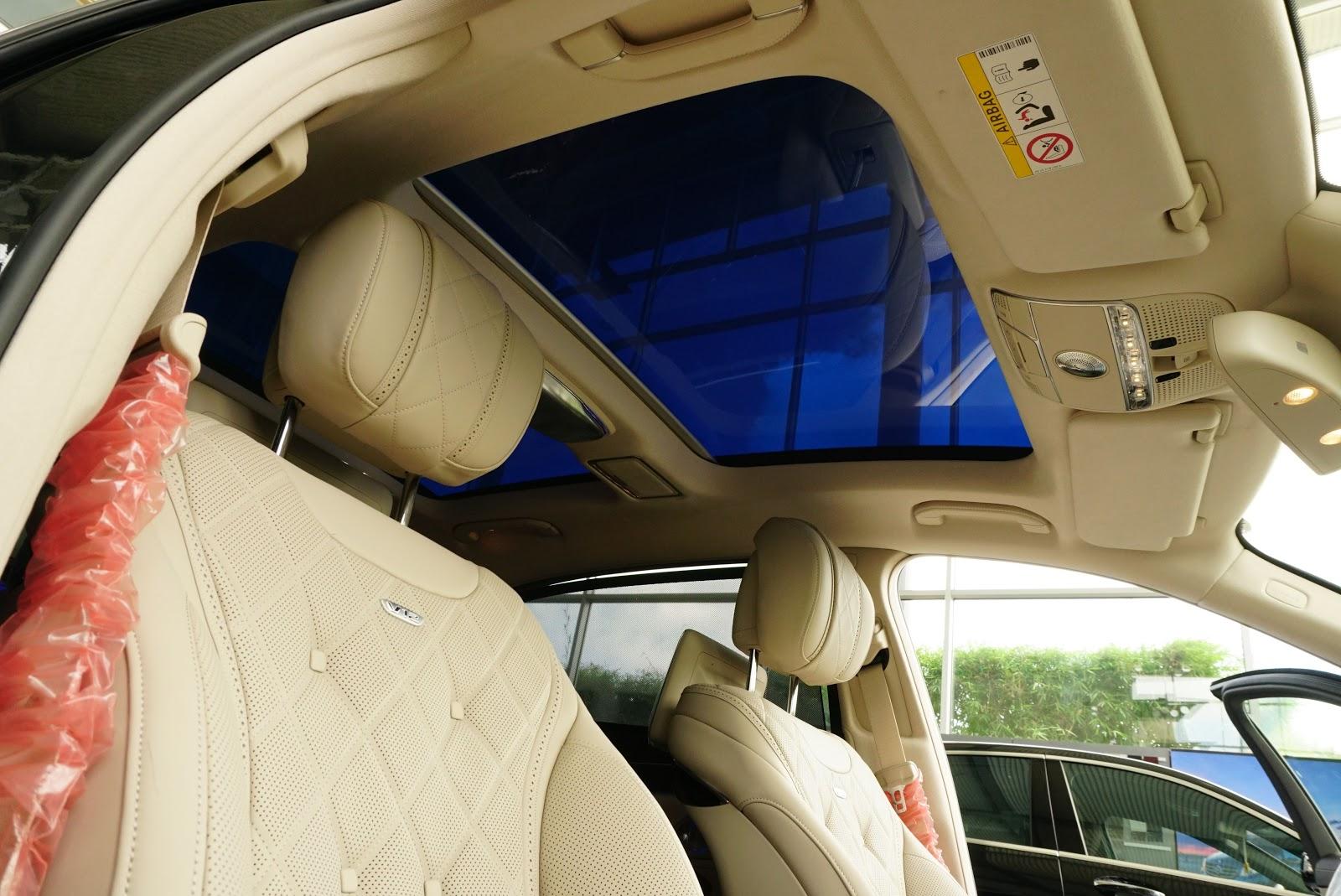 Nội Thất Xe Mercedes Benz S600 MAYBACH Màu Đen 011