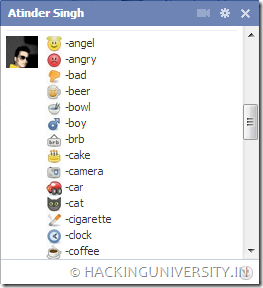 facebook chat emoticons 2013