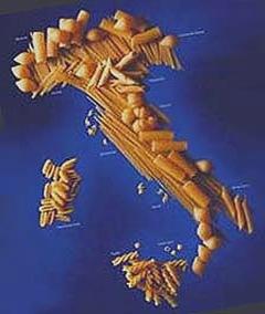 Italia fatta di spaghetti e paste integrali