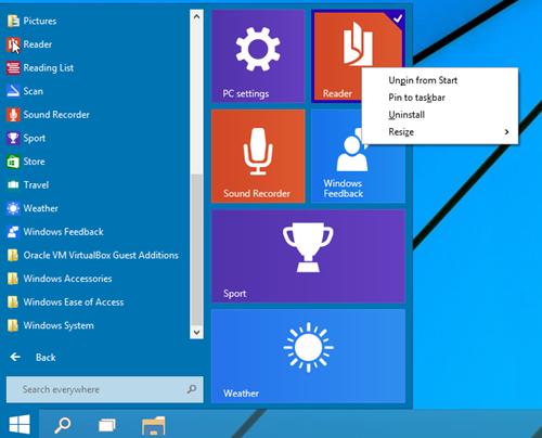 windows 10 guest account start menu