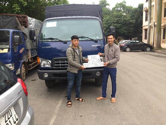 Khách hàng ở Vĩnh Phúc mua xe Hyundai HD120sl 8 tấn