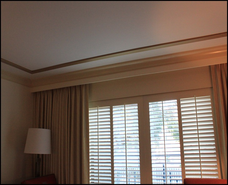 faux tray ceiling window wall