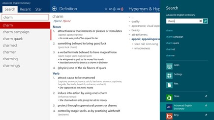 Free Advanced English Dictionary for Windows 8