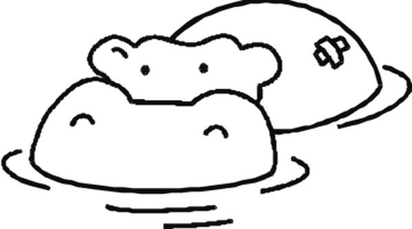 Hipopotamos Dibujos Para Colorear