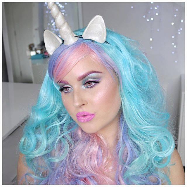Unicorn makeup ☺️ ???? I hope you love it shaaanxo unicorn