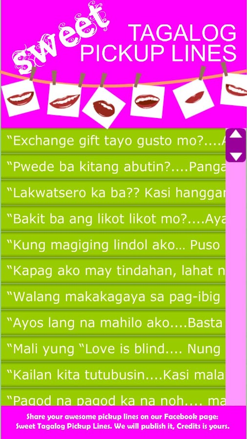 best sweet lines for girlfriend tagalog