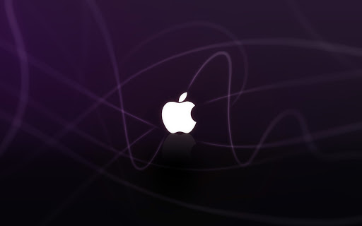 Apple Logo in Purple Waves