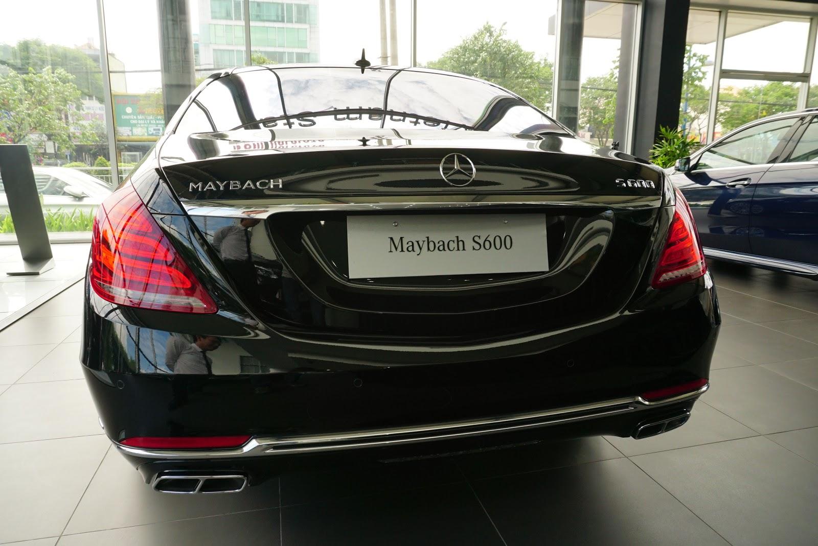 Ngoại Thất Xe Mercedes Benz S600 MAYBACH Màu Đen a04