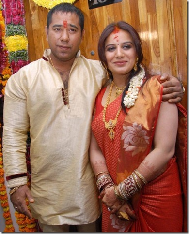 Actress Pooja Gandhi & Anand Gowda Engagement Photos