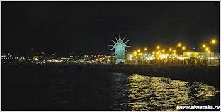 Вид на старый Несебр вечером. Болгария.
