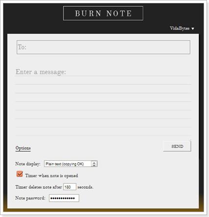 Cuenta de Burn Note