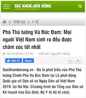 """Ông Vũ Đức Đam bảo: """"Mọi người Việt sinh ra đều được chăm sóc tốt nhất."""""""