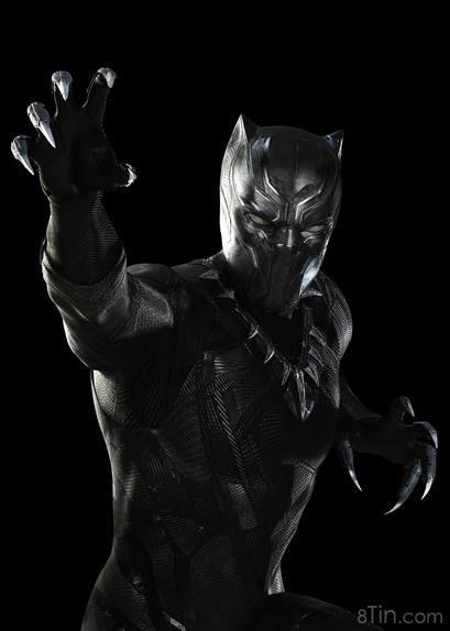 Zoom vào tạo hình của Black Panther  T'Challa, người trị vì