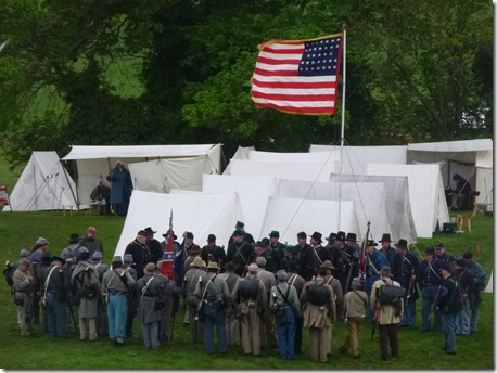 American Civil War Society and living history village