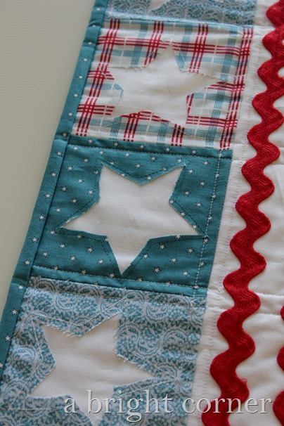 Patriotic table runner for the 4th of July