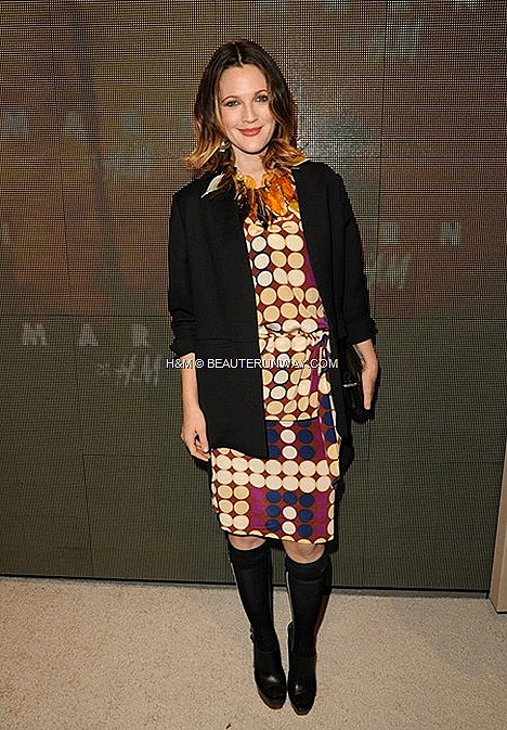 MARNI H&M USA HOLLYWOOD DREW BARRYMORE HOLLYWOOD SPRING 2012 MEN & WOMEN COLLECTION
