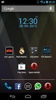 Screenshot of ICS Digital Clock Widget