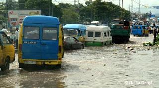 Route Inondée à Kinshasa, 2010