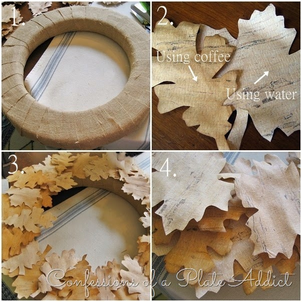 CONFESSIONS OF A PLATE ADDICT Country Living Inspired Faux Birch Bark Wreath tutorial
