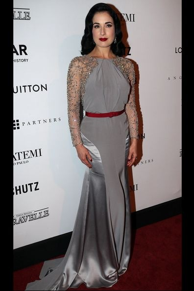 Dita Von Teese at the amfAR Inspiration Gala against AIDS2