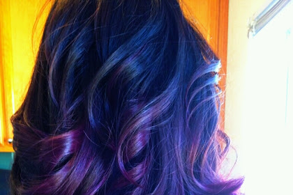 Dark Purple And Blue Ombre Hair