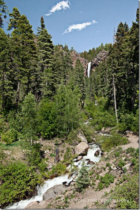 Waterfall in Rocky mountains - photo by Adrienne Zwart