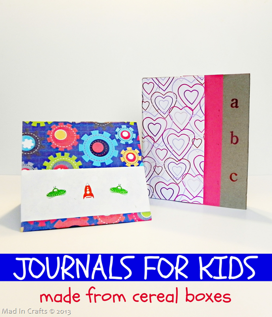 Journals for Kids Made from Cereal Boxes
